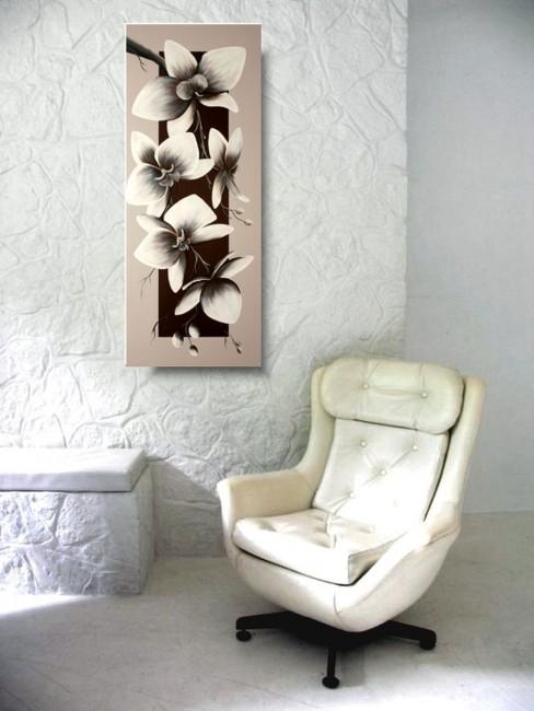 Nowoczesny Obraz Obraz Pionowy Orchidea Storczyk Obrazy
