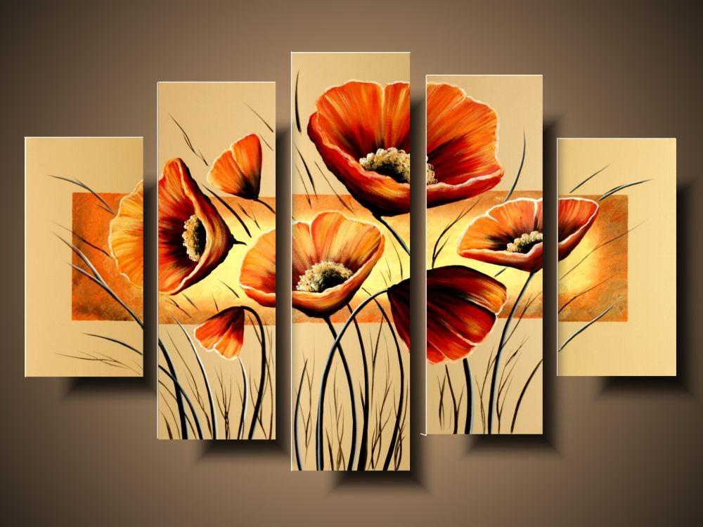 Nowoczesny Obraz Obraz Do Kuchni Kwiaty Pomarańczowe Maki 1109a