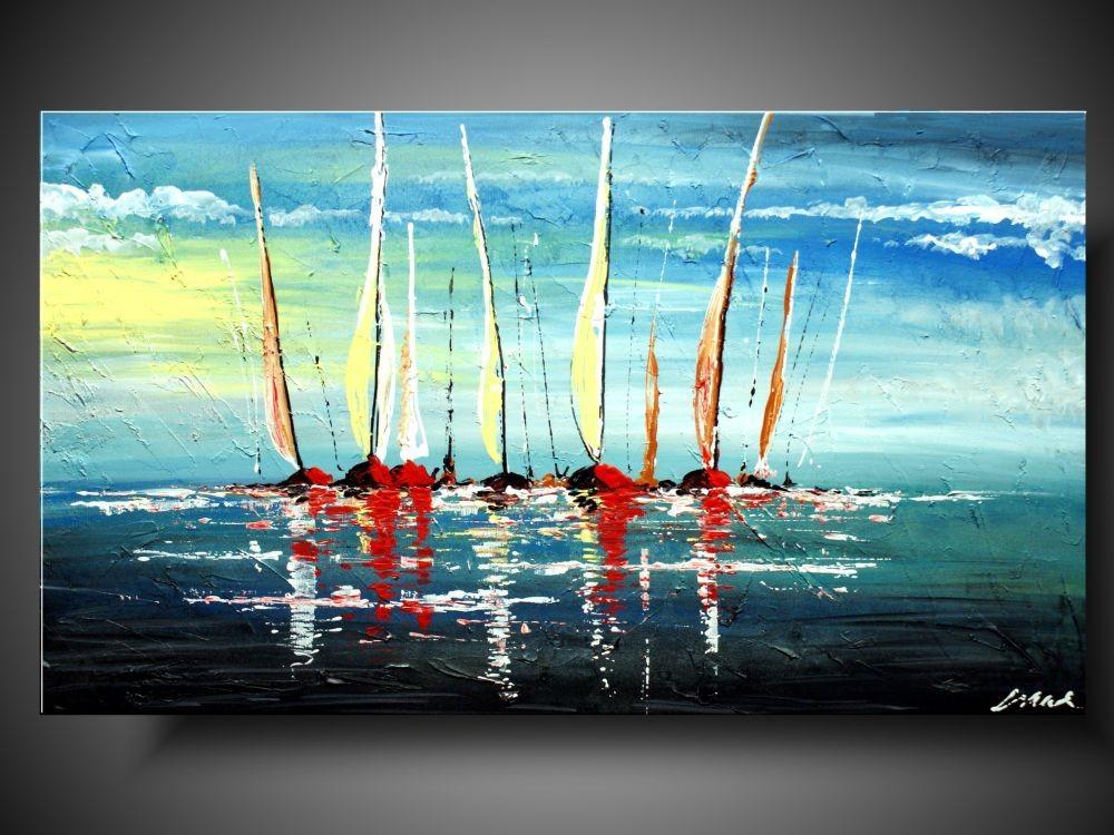 Świeże nowoczesny obraz | OBRAZ MARYNISTYCZNY Statki na morzu OBRAZY YF88